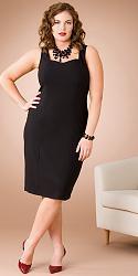 Шикарные праздничные платья для полных женщин-174-jpg