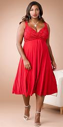 Шикарные праздничные платья для полных женщин-175-jpg
