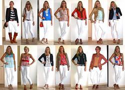 Как носить белые брюки с белой блузой или рубашкой?-belye-jpg