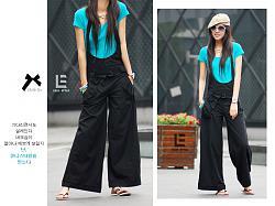 Штаны на лямках-hh-136052strapplant-black-size-xl-4-136052xl06-jpg
