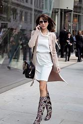 Короткие платья в офисе-boots-white-dress-black-bag-light-pink-long-cardigan-cardigan_400-jpg