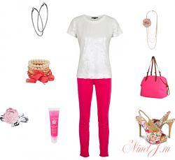 Розовые джинсы - с чем сочетать-11-6-jpg