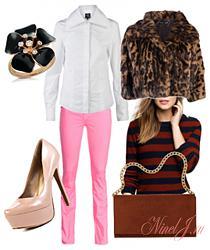 Розовые джинсы - с чем сочетать-11-7-jpg