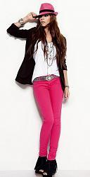 Розовые джинсы - с чем сочетать-11-11-jpg