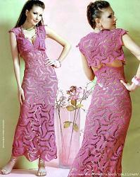 Вязанная одежда как индивидуальный стиль-78460801_rozovoe_plate_kryuchkom-jpg