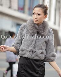 Болеро в гардеробе девушки-rabbit_fur_bolero_with_fox_fur_trim-jpg