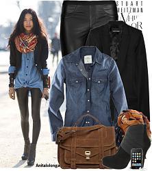 Что носить с джинсовой рубашкой?-rubashka_11-jpg
