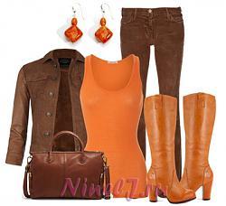 С чем носить коричневые брюки-ryzhie-sapogi-jpg