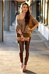 С чем носить коричневые брюки-light-brown-similar-bag-gold-similar-heels-light-brown-similar-jumper-jpg