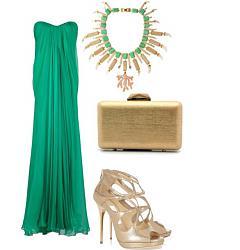 Как правильно сочетать зеленое платье?-emerald-green-dress-high-heels-outfit-combination-jpg