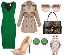 Как правильно сочетать зеленое платье?-emerald-green-dress-business-outfit-combination-jpg