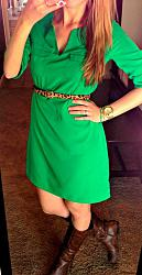 Как правильно сочетать зеленое платье?-otlichnyiy-aksessuar-k-zelenomu-platyu-e%60-leopardovyiy-remeshek-i-pozolochennyie-chasyi-jpg