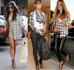 Мужские рубашки. Можно-ли носить их женщинам?-kletchataya-rubashka2014-jpg