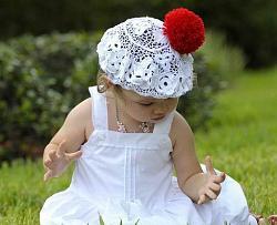 Летний головной убор для маленькой девочки-detskie_panamki_vyazanye_kryuchkom-jpg
