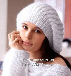 Осенняя шапка-beret_belii1-jpg