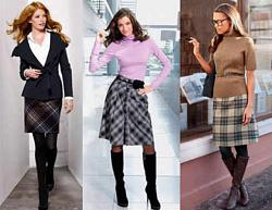 Что можно одеть под клетчатую юбку-kletchatye-yubki-9-jpg