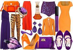 Правильно подобранные цвета в одежде-это всегда модно.-fioletovyy-i-orangevyy-jpg