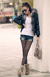 С чем одеть лонгслив?-dzhinsovie-shorti-i-kolgotki-foto%2520-1-jpg