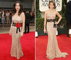 Одинаковые платья на знаменитостях-ketrin-zeta-dzhons-i-sara-hailend-jpg