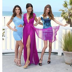 Адриана Лима, Бехати Принслу и Лили Олдридж на пляжной вечеринке-pink-carpet-party-4-jpg